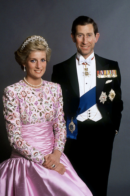 The Prince and Princess of Wales seen at Kensington Palace, London.Exclusive  photograph by Jayne Fincher