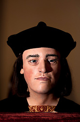 © Licensed to London News Pictures. 05/02/2013. London, United Kingdom. The Face of Richard III unveiled 528 years after his death.  A facial reconstruction revealing what may be the features of King Richard III at the Society of Antiquaries, Burlington House, Piccadilly. Photo credit : Justin Setterfield/LNP.