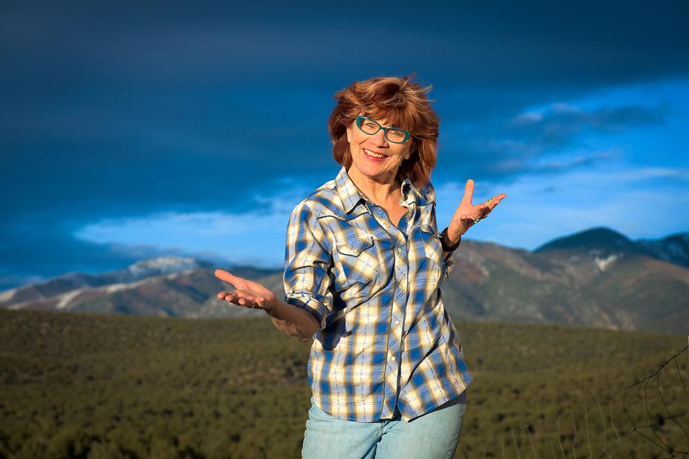 Environmental portrait, Arroyo Hondo, New Mexico