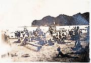 beach scene Japan ca 1930s
