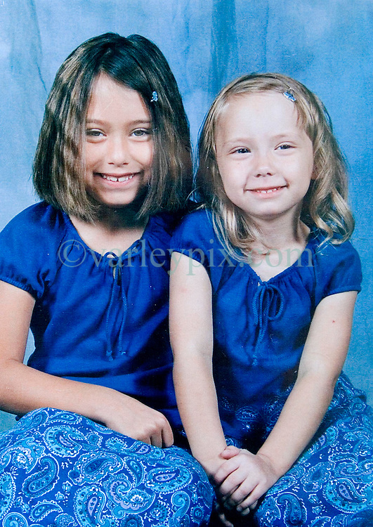 19 Jan,2006. Collect photograph.  Eminem's daughter, Hailie Jade Mathers (on right) at 6 years old with her cousin (check) Amanda Aalie (8 yrs old).  Marshall Bruce Mathers III daughter and her cousin.<br /> Photo Credit: Kresin via  www.varleypix.com