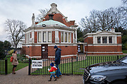 Outside Dulwich College old library polling station on the 12th December 2019 in London in the United Kingdom. Polling stations have opened as the nation votes to decide the next UK government in a general election. Its the 3rd election in under 5 years.