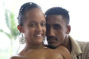 A couple in a bar in Cubatão