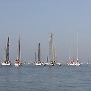 tour de l'île de Ré 2017 organisé par la Société des régates rochelaise. Environ 150 bateaux