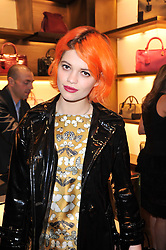 PIXIE GELDOF at the opening of Loewe's new boutique at 125 Mount Street, London on 23rd March 2011.