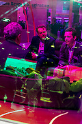 Monday 25th, 2019. BARCELONA, SPAIN. Attendees networking at T Mobile stand. Mobile World Congress Barcelona 2019 (photo Edu Bayer)