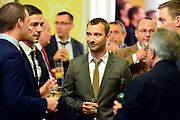 © Licensed to London News Pictures. 11/09/2013. London, UK Charlie Condou. The Deputy Prime Minister, Nick Clegg, hosts a reception at Admiralty House in Whitehall this evening, 11 September 2013, to celebrate the government's progress in equal marriage. From next year gay people will be able to get married. A number of high profile guests including openly supportive celebrities, campaigners, religious figures and charities were in attendance.<br /> The London Gay Men Chorus Ensemble performed at the event. . Photo credit : Stephen Simpson/LNP