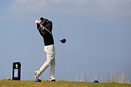Ronan Mullarney (Galway) on the 1st tee during Round 3 of The West of Ireland Open Championship in Co. Sligo Golf Club, Rosses Point, Sligo on Saturday 6th April 2019.<br /> Picture:  Thos Caffrey / www.golffile.ie