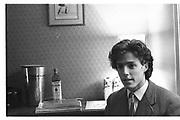 Hugh Grant  Norreys Ave, Oxford. 1980. © Copyright Photograph by Dafydd Jones 66 Stockwell Park Rd. London SW9 0DA Tel 020 7733 0108 www.dafjones.com