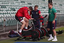 British & Irish Lions George North and Jack Nowell during the training session at the QBE Stadium, North Shore City.