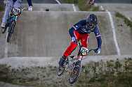 #254 (RACINE Romain) FRA during round 4 of the 2017 UCI BMX  Supercross World Cup in Zolder, Belgium.