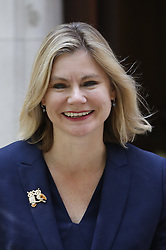© Licensed to London News Pictures. 16/07/2018. London, UK. Justine Greening MP gives a television interview near Parliament. Ms Greening have said in an interview with The Times that a second referendum on leaving the EU should be held. Photo credit: Peter Macdiarmid/LNP