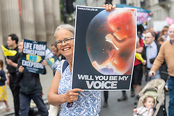 © Licensed to London News Pictures. 04/09/2021. London, UK. Thousands of protesters take part in the MARCH FOR LIFE anti abortion demonstration calling to advocate for protection of every human life. Photo credit: Ray Tang/LNP