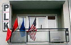 PRISTINA, KOSOVO - DECEMBER 14  - stranka PLK sedez