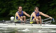 05/07/03/03 .2003 Henley Royal Regatta - Sat.Double Sculls Challenge Cup.Dresden Rowing Club USA..Bow E Demetriou and D Kitchel 2003 Henley Royal Regatta , Henley Reach . HRR.