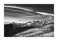North Gardner Mountain seen from Driveway Butte, North Cascades Washington