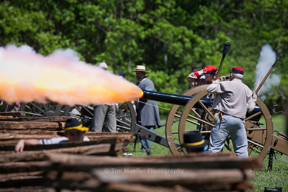 Annual Civil War Re-enactment at Louisiana's Port Hudson State Historic site.