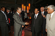 PRIME MINISTER OF MAURITIUS DR. NAVINCHANDRA RAMGOOLAM AND THE PRESIDENT SIR ANEROOD JUGNAUTH. LE PRINCE MAURICE PRIZE 2006. PRINCE MAURICE HOTEL. MAURITIUS. 27 May 2006. ONE TIME USE ONLY - DO NOT ARCHIVE  © Copyright Photograph by Dafydd Jones 66 Stockwell Park Rd. London SW9 0DA Tel 020 7733 0108 www.dafjones.com