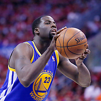 21 April 2014: Golden State Warriors forward Draymond Green (23) is seen at the free throw line during the Los Angeles Clippers 138-98 victory over the Golden State Warriors, during Game Two of the Western Conference Quarterfinals of the NBA Playoffs, at the Staples Center, Los Angeles, California, USA.