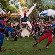 """HENRY DANGER -- Episode 521/522 """"The Musical: Part I & II"""" -- Pictured: Henry (Jace Norman), Frankini (Frankie Grande) and Ray (Cooper Barnes) star in HENRY DANGER a on Nickelodeon.  Photo: Lisa Rose/Nickelodeon ©2018 Viacom, International, Inc.  All Rights Reserved."""
