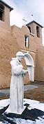 St. Francis statue at San Francisco de Asis Church
