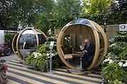 ORNATE GARDEN made in birmingham, britax, Press view of the 2016 RHS  Chelsea Flower Show,  London.
