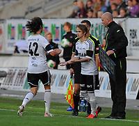 Fotball Tippeligaen Rosenborg - Aalesund<br /> 31 august 2013<br /> Lerkendal Stadion, Trondheim<br /> <br /> Bytte Rosenborg : Inn : Daniel Berntsen Ut : Mikkel Mix Diskerud<br /> <br /> <br /> Foto : Arve Johnsen, Digitalsport