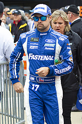June 10, 2018 - Brooklyn, Michigan, U.S - NASCAR driver RICKY STENHOUSE JR. (17) walks in the pit area at Michigan International Speedway. (Credit Image: © Scott Mapes via ZUMA Wire)
