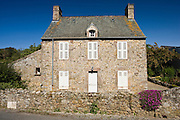 French house at St Germain Des Vaux in Normandy, France