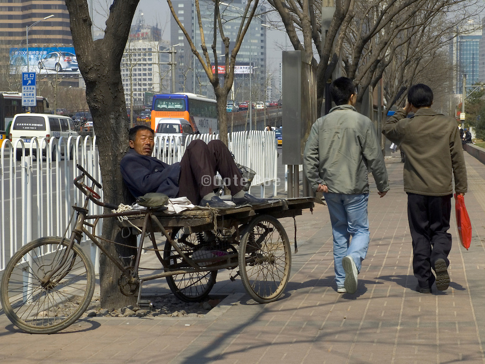 person waiting for a job China Beijing