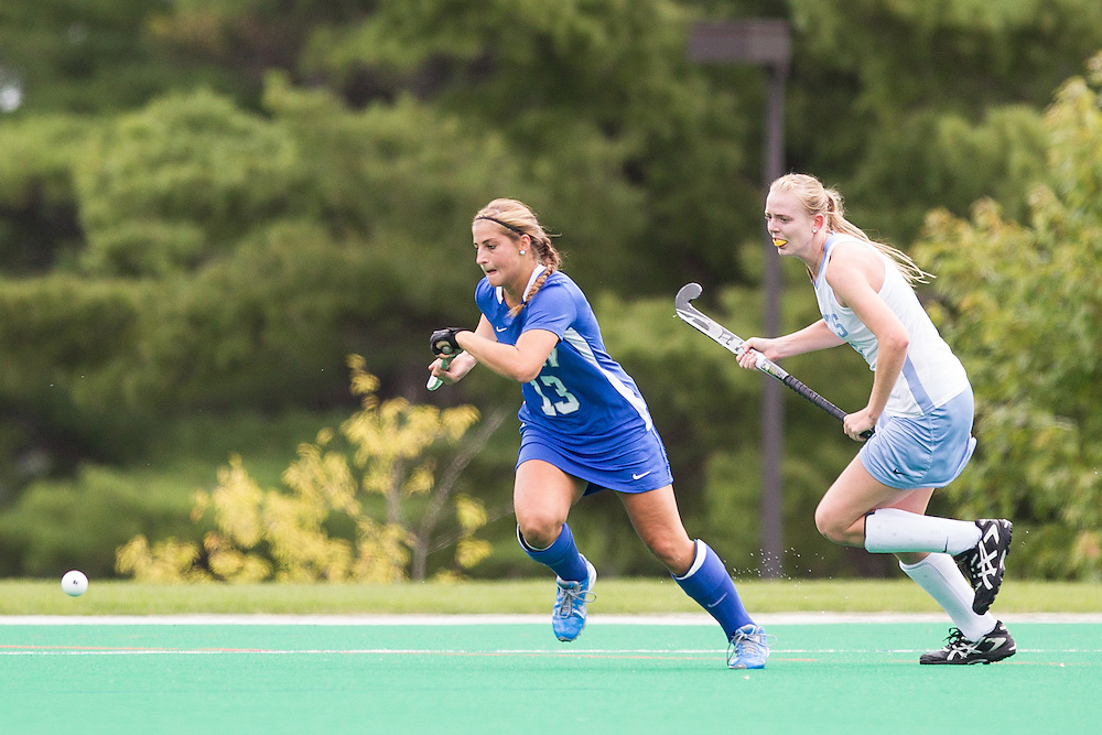 Misha Strage, of Colby College, in a NCAA Division III field hockey game on September 13, 2014 in Waterville, ME. (Dustin Satloff/Colby College Athletics)