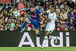 August 7, 2017 - Barcelona, Catalonia, Spain - FC Barcelona defender JORDI ALBA in action during the Joan Gamper Trophy between FC Barcelona and Chapecoense at the Camp Nou stadium in Barcelona (Credit Image: © Matthias Oesterle via ZUMA Wire)