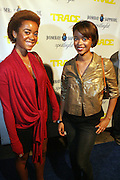 l to r: Nikki Gibson and Cassie Gibson at the Trace Magazine annual launch for ' Black Girls Rule ' issue held at Merkato 55 on August 19, 2008