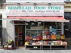 Middle Eastern  shop on Nicholson Square in central Edinburgh, Scotland, United Kingdom