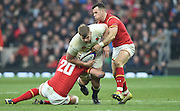 Twickenham. Great Britain.<br /> George KRUIS, breaking through left, Justin TIPURIC and right Gareth DAVIES tackles during the <br /> RBS Six Nations Rugby, England vs Wales at the RFU Twickenham Stadium. England.<br /> <br /> Saturday  12/03/2016 <br /> <br /> [Mandatory Credit; Peter Spurrier/Intersport-images]