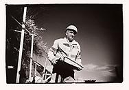 Un ouvrier refait des murs en pierres seches sur un chantier à Aven en Valais en 2020<br /> Projet sur la construction avec l'AVE (association Valaisanne des Entrepreneurs <br /> Suisse, Valais<br /> Project terre rare #photoargentique #noiretblanc #noiretblancphotographie #blackandwhite #blackandwhitephotography #photoargentique #photographieargentique #leica #leicamp #ilford #labophoto #terrerare #terresrares #terrerareprojet @omaire. <br /> (STUDIO_54/ OLIVIER MAIRE)