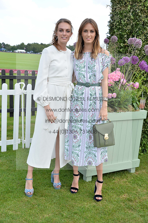 Lady Violet Manners and Lady Alice Manners at Cartier Queen's Cup Polo, Guard's Polo Club, Berkshire, England. 18 June 2017.<br /> Photo by Dominic O'Neill/SilverHub 0203 174 1069 sales@silverhubmedia.com