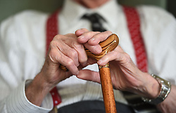Embargoed to 0001 Monday June 12 File photo dated 18/05/17 of an elderly man. Around one in every 12 private rental sector tenants is a pensioner, a lettings index has found.