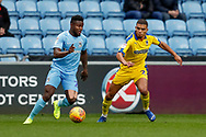 Wimbledon defender Tennai Watson (2), on loan from Reading, in action  during the EFL Sky Bet League 1 match between Coventry City and AFC Wimbledon at the Ricoh Arena, Coventry, England on 12 January 2019.