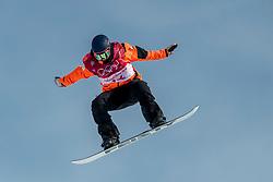 19-02-2018 KOR: Olympic Games day 10, Pyeongchang<br /> Snowboard Big Air qualification at Alpensia Ski Jumping Centre / De Olympische Spelen zitten erop voor Cheryl Maas. De 33-jarige snowboardster wist zich op het onderdeel Big Air niet te plaatsen voor de finale.