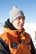 Tomas Huting, director of BigAirBag at GB Park & Pipes brand new winter training facility in Mottolino Snow Park on 5th December 2017 in Livingo, Italy. The Big Air Bag is the first of its kind and has been developed by the GB Park & Pipe team. The air bag was built by BigAirBag company from Holland.