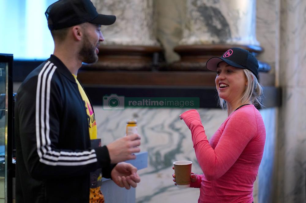 Aimee Fuller (right) ahead of the 2019 London Landmarks Half Marathon.