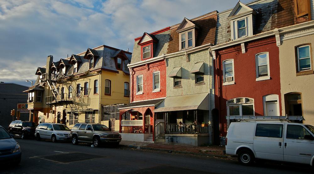 Berks Co., Reading, PA, Colorful Street Scene