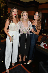 Left to right, ELLIE HARRIS, ANGELIKA WIERZBICKA and ANNIE HERTIKOVA at the launch of Blakes Below at Blakes Hotel, 33 Roland gardens, London SW7 on 14th September 2016.
