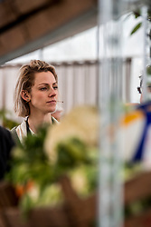 28-03-2018 NED: Kickstart Food van Rabobank, Utrecht<br /> A clever mix of the tastiest seasonal vegetables for the sports public, coming from Dutch local companies. That is the core of the new food program that enables Rabobank and the Nevobo at the Moestuin in Utrecht / Debby Pilon-Stam