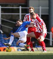Photo: Mark Stephenson.<br /> Birmingham City v Stoke City. Coca Cola Champinship. 11/02/2007.Birmingham's Stephen Clemence (L) on the ball