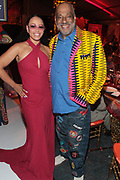 Bridgehampton, New York, NY-July 15: (L-R) Recording Artist Elle Varner and Visual Artist/Author Danny Simmons, Co-founder, RUSH Philanthropic attends The 2017 RUSH Philanthropic's  Art For Life held at Fairview Farms on July 15, 2017 in Bridgehampton, New York. (Photo by Terrence Jennings/terrencejennings.com)
