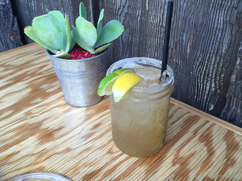 Lime and Lemon garnish on a Margarita.