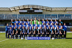 First Team Photo with additional staff and Keith Brookman - Mandatory byline: Rogan Thomson/JMP - 07966 386802 - 07/09/2015 - FOOTBALL - Memorial Stadium - Bristol, England - Bristol Rovers Team Photos.