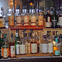 Europe, Great Britain, United Kingdom, Scotland. Scotch Whiskey selection.